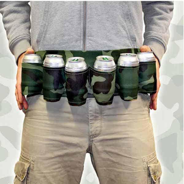 ceinture de bière, 6 bouteilles