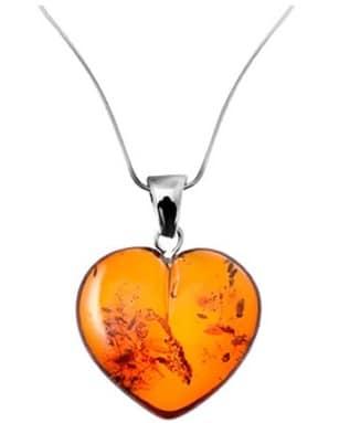 pendentif coeur d'ambre