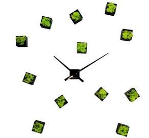 horloge vegetale murale