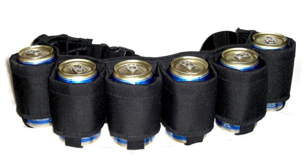 ceinture de bière, 6 canettes